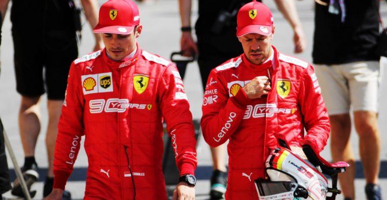 Sebastian Vettel (kiri) dan Charles Leclerc, tahun terakhir kebersamaan di Ferrari(Foto: gpblog)