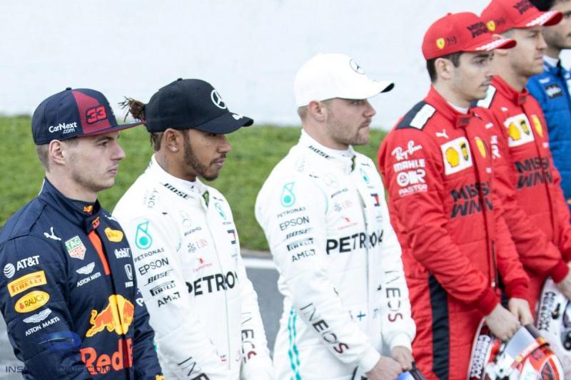 Max Verstappen (Red Bull, kiri) di antara pesaing dalam perburuan gelar 2020. (Foto: insideracing)