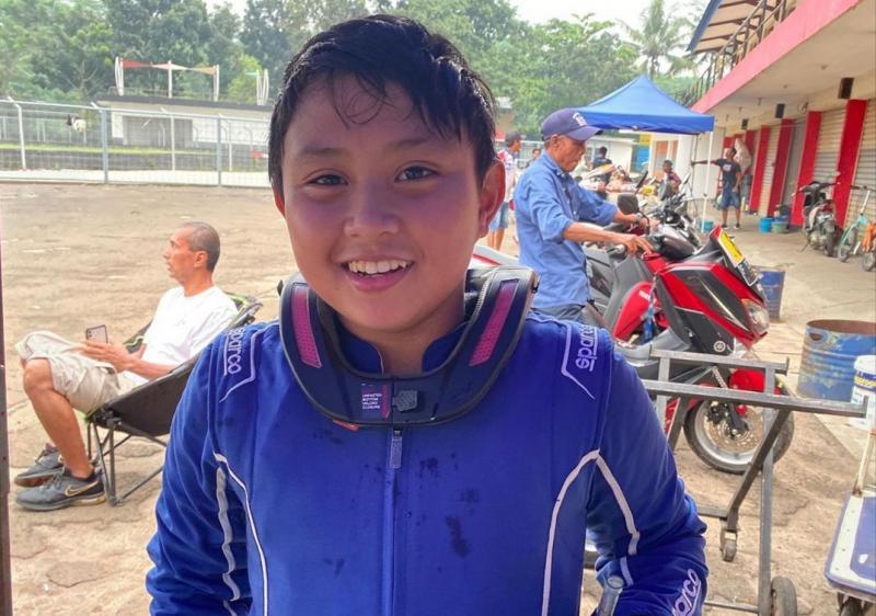 Kanaka Azarel Gusasi, digenjot latihan fisik dan teknik jelang ikuti CIK Karting Academy di 3 sirkuit Eropa. (foto : ig kanaka)