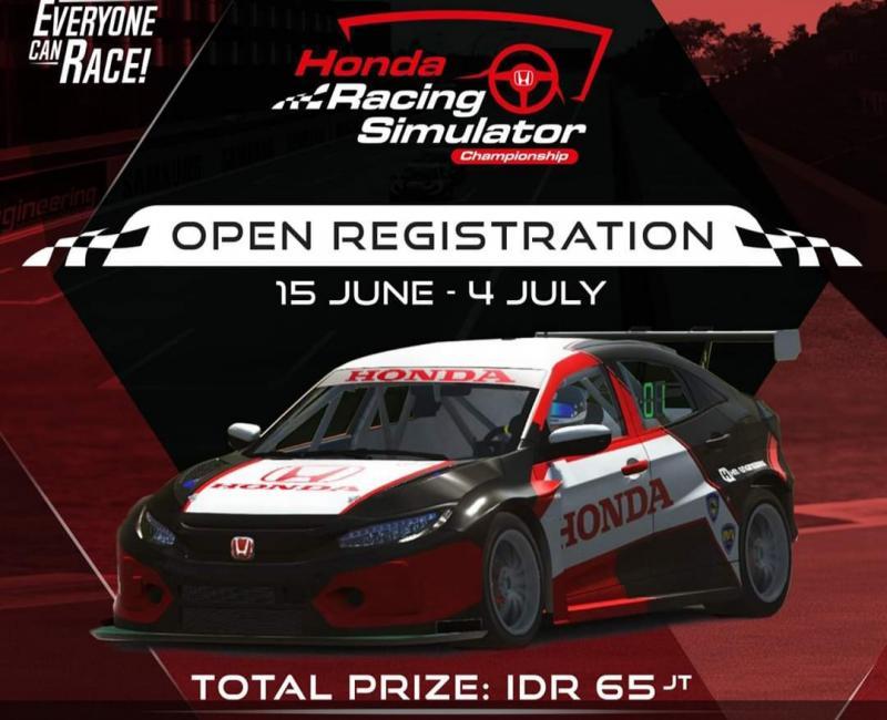 Honda Racing Simulator Indonesia akan digelar 4 Juli - 29 Agustus 2020