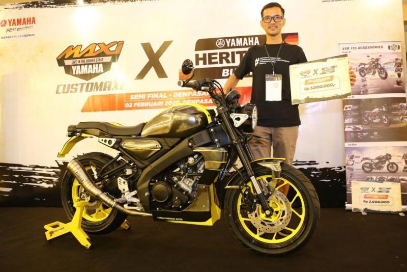 Athanasius Ketut Hargunanto - Pemenang kategori Yamaha Heritage Built XSR 155 CustoMAXI x Yamaha Heritage Built Denpasar 2020. (ist)