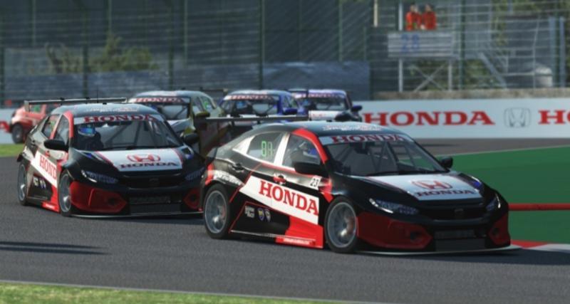 Honda Racing Simulator Championship 2020 dengan sistem one make race Honda Civic Type R Sport Version.