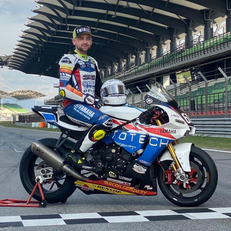 Ben Godfrey, pembalap superbike Inggris korbn balapan di Sirkuit Donington. (Foto: talksport)