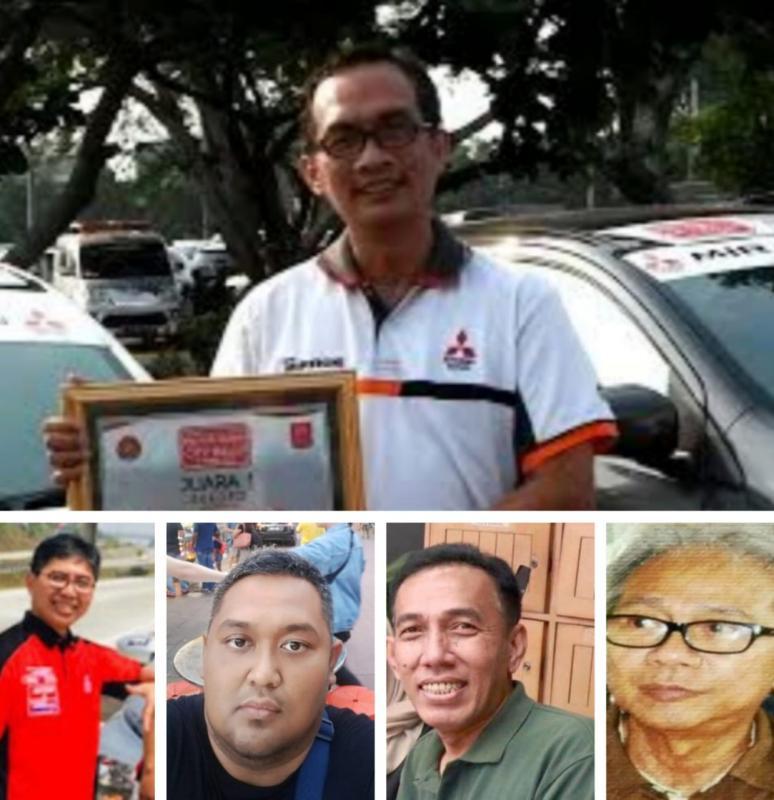 Searah jarum jam, atas Adi Wibowo, Poedio Bintoro, Bengky Marpaung, Dimas Respasti dan Bambang Feriyanto, 5 dari belasan figur atas terwujudnya Time Rally Online Championship. (foto : kolase)