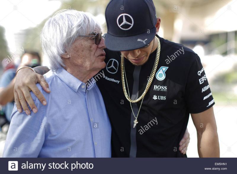 Bernie Ecclestone dan Lewis Hamilton. (Foto: alamy)
