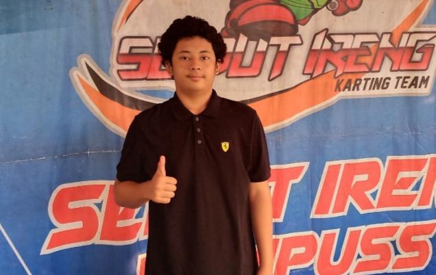 Marlo Alexa, pegokart Bandung yang berobsesi bisa ikut balap mobil NASCAR di Amrik. (foto : wan)