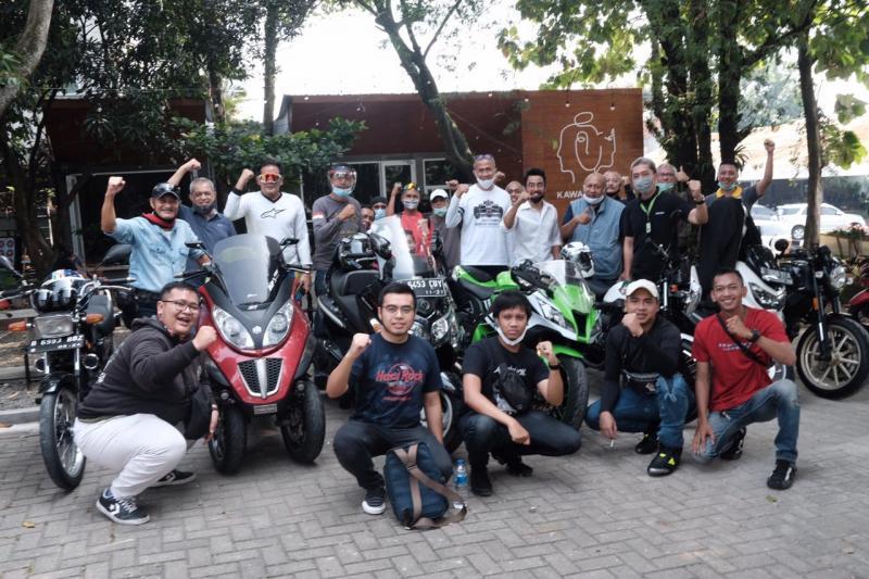 Wakil Walikota Dedie Rachim mengaku sangat gembira karena kota Bogor dijadikan persinggahan para Bikers dari Ibukota.(ist)