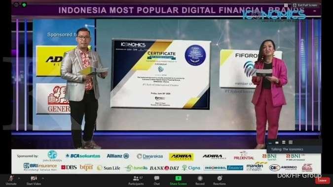 Acara penghargaan bertajuk Indonesia Most Popular Digital Financial Brands (Millennial Choice) ini dilakukan dengan menggunakan sarana virtual awarding (26/6/2020). (ist)