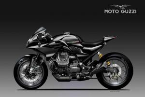 Moto Guzzi Black Eagle racikan oberdan Bezzi yang tampil misterius.