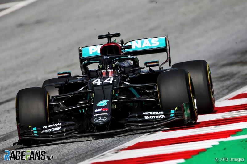 Lewis Hamilton sementara tercepat di GP Austria 2020. (Foto: racefans)