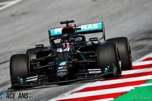 Lewis Hamilton (Inggris/Mercedes), sementara tercepat di GP Austria 2020. (Foto: racefans)