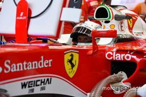 Logo Weichai yang menghilang dari bodi Ferrari memasuki kompetisi 2020. (Foto: motorsport)