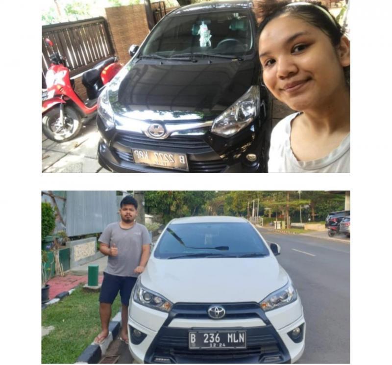 Tori Agustrin dan Kemal Ilham Pasyah, dengan pilihan mobil hariannya. (foto : hilary)