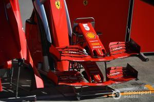 Sayap depan Ferrari SF1000 yang dicoba pada Jumat (10/7) pagi di Red Bull Ring. (Foto: motorsport)