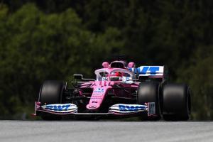 Sergio Perez di atas Pink Mercedes, sementara ungguli para pembalap favorit. (Foto: formula1)