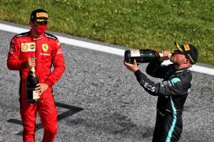 Valtteri Bottas dan Charles Leclerc di GP Austria, langsung balik ke Monaco. (Foto: f1)
