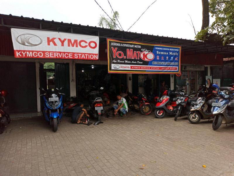Yo Matic, bengkel spesialis Kymco di Jakarta Barat (foto : hf)