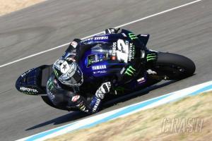 Maverick Vinales (Yamaha), melejit dari posisi 13 ke posisi teratas. (Foto: crash)