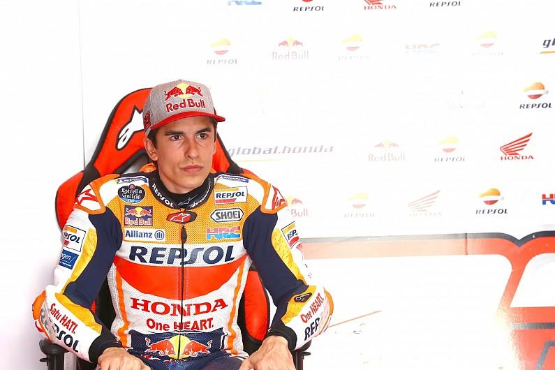 Marc Marquez (Honda), pulih dari operasi tulang bahu kiri. (Foto: autosport)