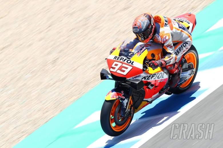 Marc Marquez (Spanyol/Repsol Honda), sementara tercepat di seri pembuka MotoGP 2020. (Foto: crash)
