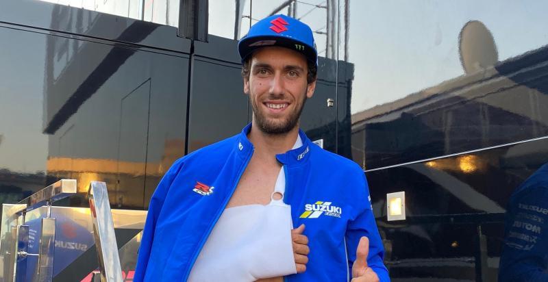 Alex Rins gagal ikut balap di seri perdana MotoGP Jerez 2020