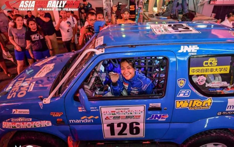 Lody Francis Natasha saat mengikuti Asia Cross Country Rally di Thailand-Myanmar tahun 2019.