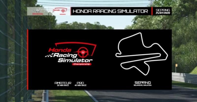 Seri 2 Honda Racing Simulator Championship siap digelar di sirkuit virtual Sepang Malaysia, Sabtu (25/7/2020)