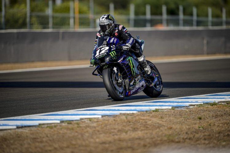 Maverick Vinales (Yamaha), buka mesin baru dan tercepat di sesi pembuka GP Andalusia. (Foto: motorsportweek)