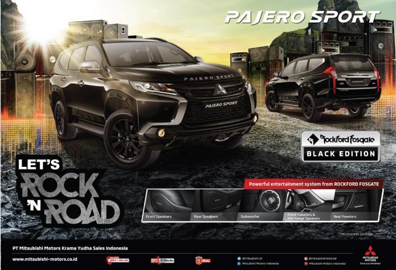Pajero Sport Rockford Fosgate Black Edition dijejali fitur di eksterior maupun interior