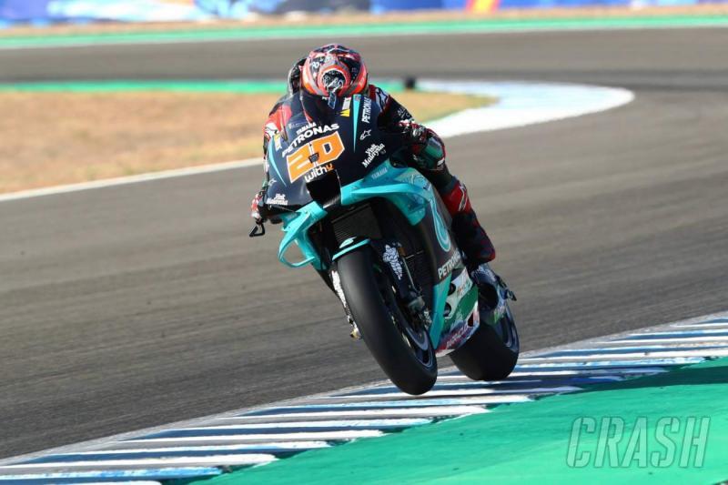 Fabio Quartararo (Petronas Yamaha), pole dari buah kesalahan Maverick Vinales. (Foto: crash)