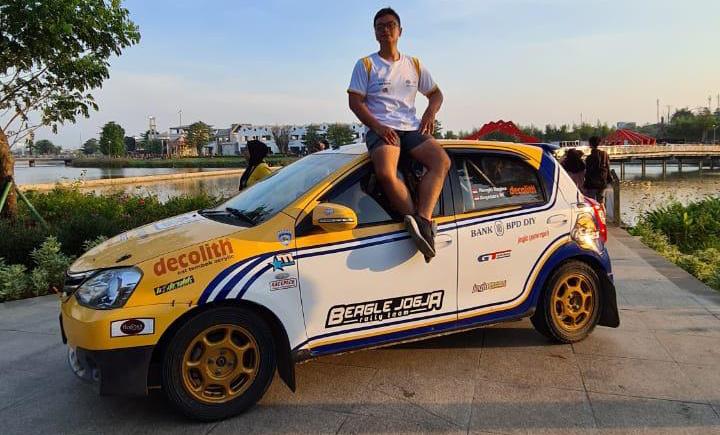 Anjasara Wahyu, sambut baik adanya sirkuit sprint rally di Meikarta, Bekasi, Jawa Barat. (foto : petrus aviantoro)