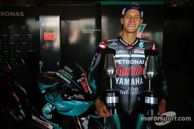 Fabio Qauratararo (Prancis/Petronas Yamaha Srt), pemimpin klasemen sementara MotoGP 2020. (Foto: motorsport)