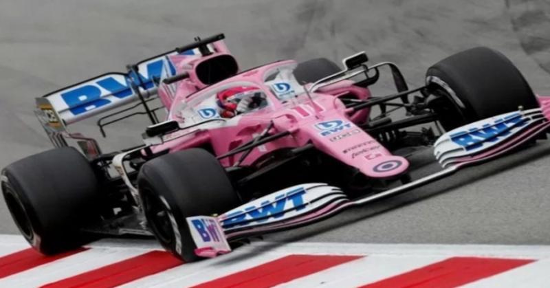 Racing point bermesin Mercedes yang tampil memukai di Sirkuit Silverstone. (Foto: reuters))