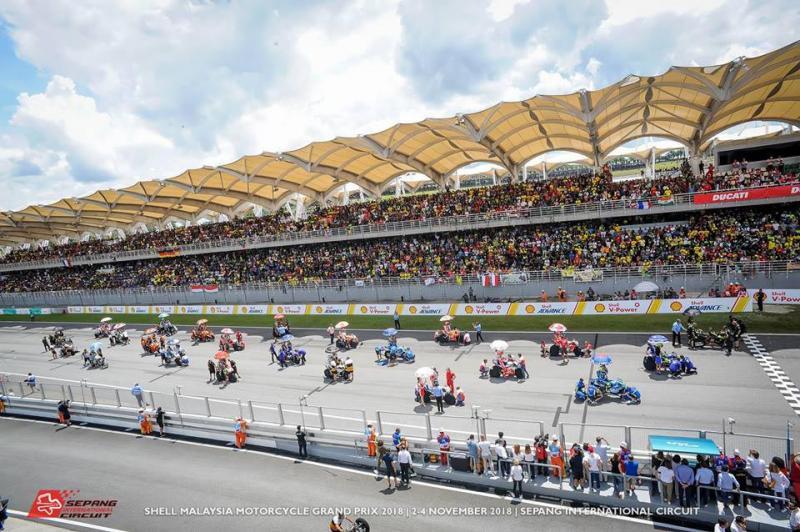 Sirkus balap MotoGP di Sirkuit Sepang, Malaysia, kosong pada musim 2020 gegara Coronavirus. (Foto: sepangcircuit)