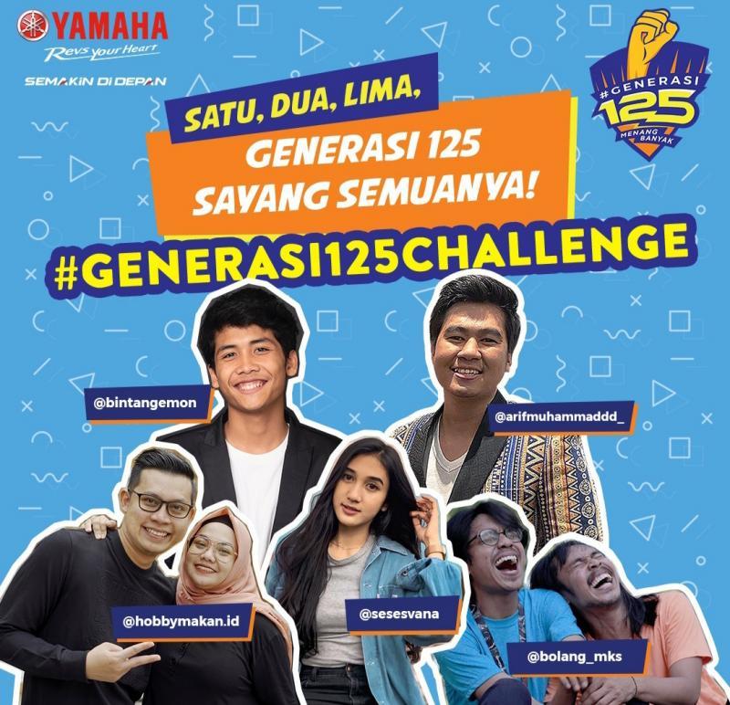 Para influencer muda menantang kalian untuk adu kreatif dengan tema #Generasi125Challenge
