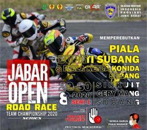 Jabar Open Road Race Team Championship Seri 1 di sirkuit Gery Mang Subang, Jawa Barat