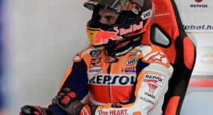 Marc Marquez (Repsol Honda), terancam tanpa poin dalam tiga laga awal MotoGP 2020. (Foto: afp)