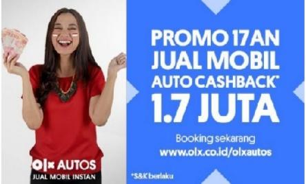 Sambut hari Kemerdekaan RI, platform jual beli mobkas OLX Autos gelar program auto cash back Rp 1,7 juta