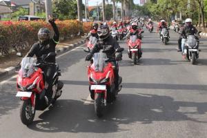 Komunitas Honda melakukan kopdar aman di era new normal