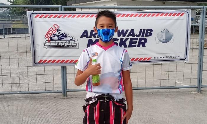 Aditya Wibowo, telah 5 kali melakukan latihan gokart selama pandemi di Sentul International Karting Circuit, Bogor. (foto : bs)