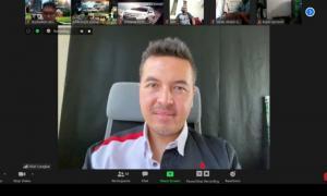 Rifat Sungkar jadi bintang tamu Talk Show Diler Mitsubishi Virtual Customer Gathering