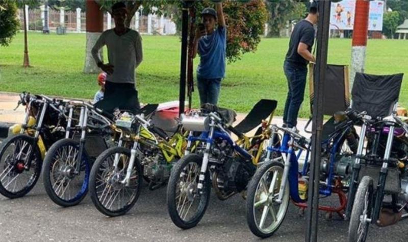 Latihan bersama drag bike di sirkuit Suwarnadwipa Muara Bungo, sebagai obat rindu beberapa bulan tidak ada event dengan venue menarik