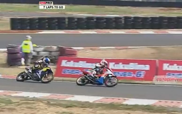 Kemeriahan dan ketatnya persaingan pada Kejurnas Balap Motor Oneprix di Sentul International Karting Circuit tahun lalu