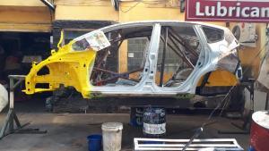 Persiapan 2 mobil rally besutan Arce Meyer dari Whooosah Tuning