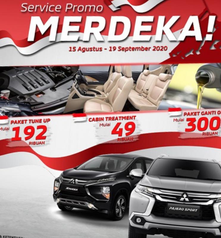 Mitsubishi Motors dalam rangka menyambut hari kemerdekaan Indonesia melalui Merdeka Campaign pada periode 15 Agustus – 19 September 2020.