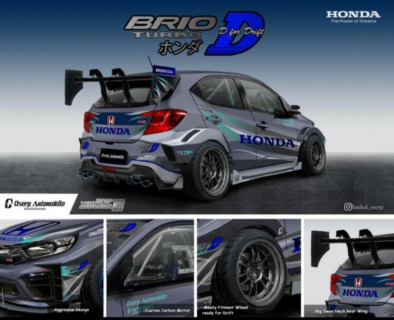 Kreasi Muhammad Haekal yang memenangi Honda Brio Virtual Modification V-Mod 3 tahun 2020