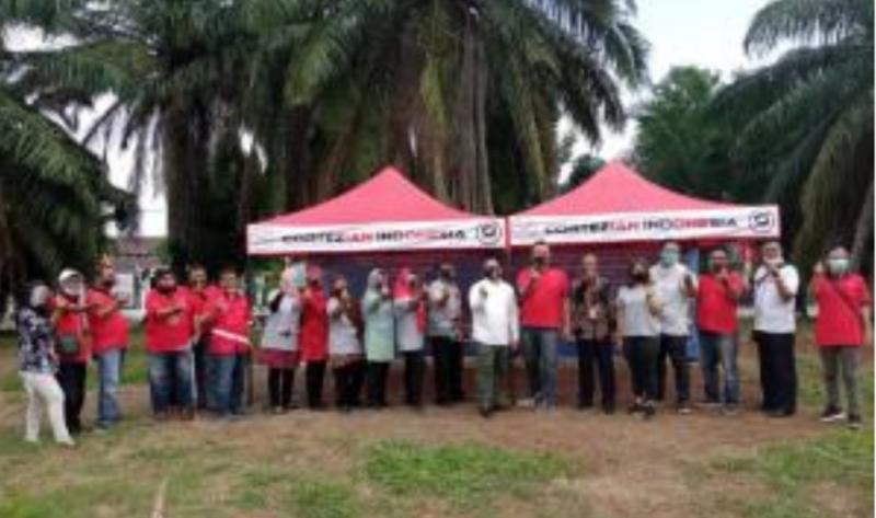 Aksi sosial komunitas Cortezian merayakan ulang tahun yang kedua