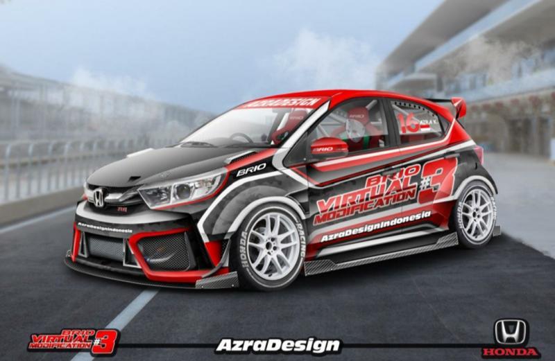 Desain Honda Brio V-Mod#3 karya Muhammad Azra dari Jombang yang terpilih sebagai pemenang pilihan media