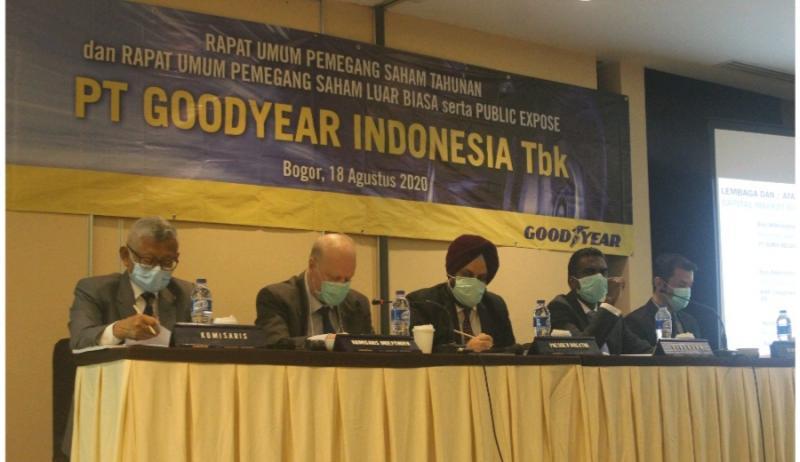 RUPS PT Goodyear Indonesia, Tbk, berlangsung di Bogor Selasa (18/8/2020) dengan mengambil empat keputusan.