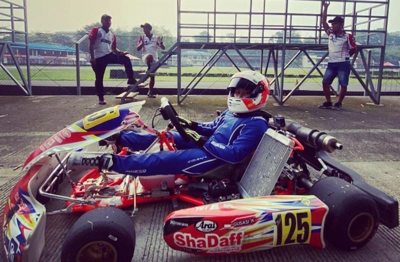 Kanaka Azarel Gusasi, terkendala pandemi Covid-19 untuk ikuti 3 event CIK Karting Academy Trophy 2020